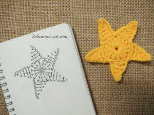 Crochet star patern 1
