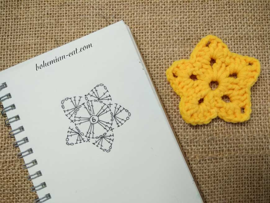Crochet star pattern 2