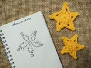 Crochet star pattern 3
