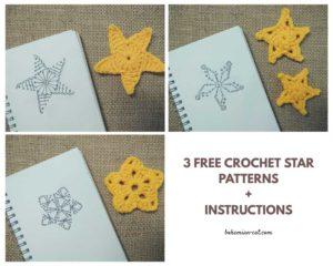 3 Crochet star patterns