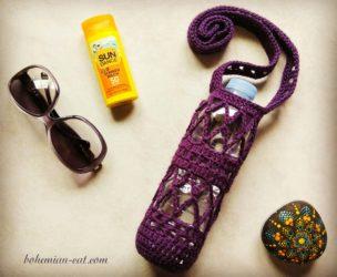 Crochet bottle holder