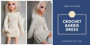 Crochet Barbie dress pattern