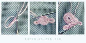 Crochet elegant bow step by step