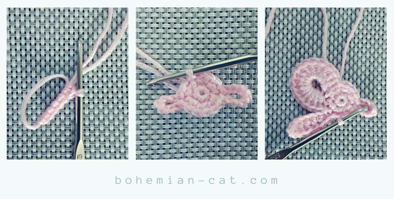Crochet elegant bow step by step