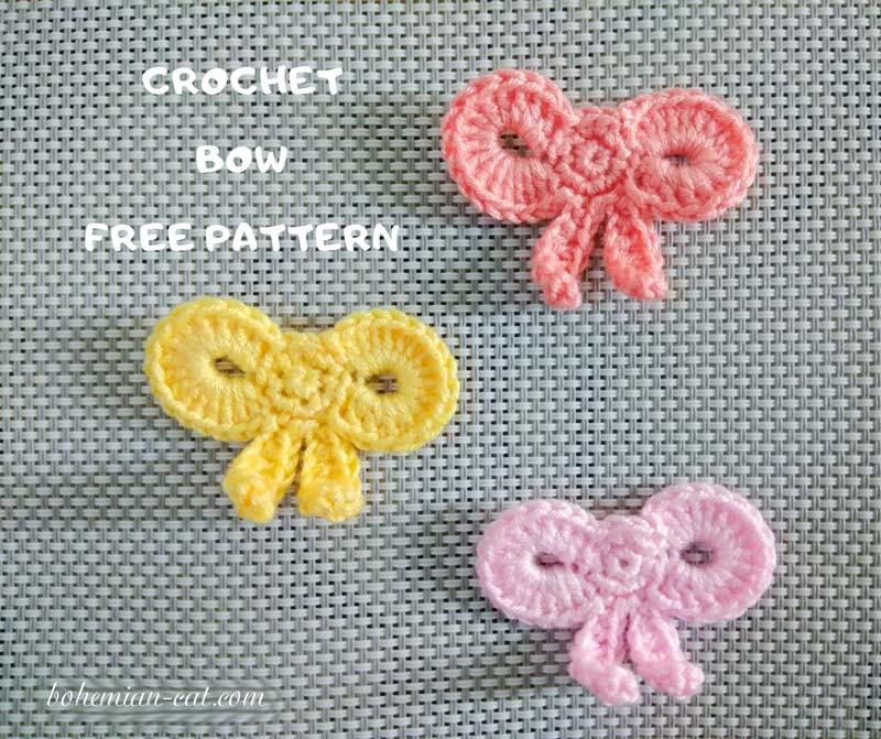 Elegant crochet bow