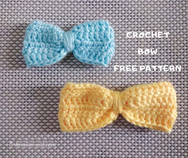 Classic crochet bow