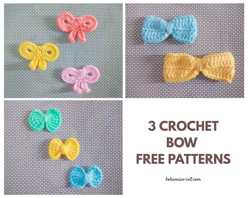 Crochet bow patterns