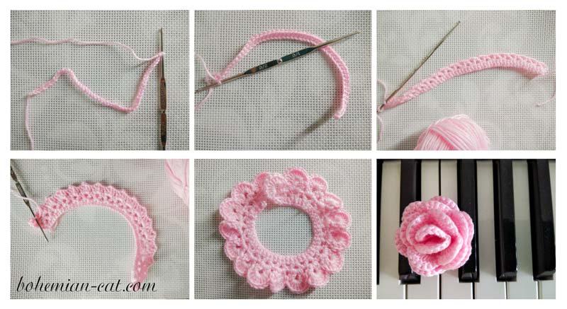 Crochet Rose Step by Step
