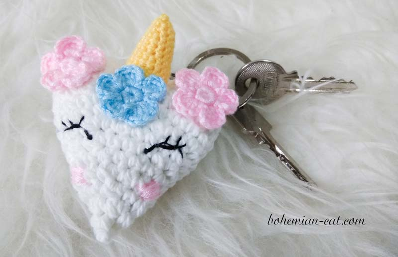 Crochet Unicorn Keychain Pattern