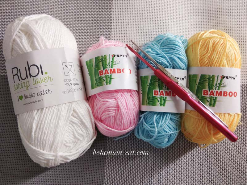 Crochet Unicorn Materials
