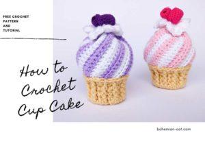 Crochet Amigurumi Cup Cake