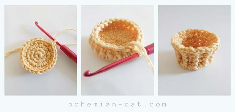 Crochet amigurumi cup cake step 1