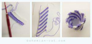 Crochet amigurumi cup cake step 2