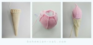 Crochet Ice Cream Step by step
