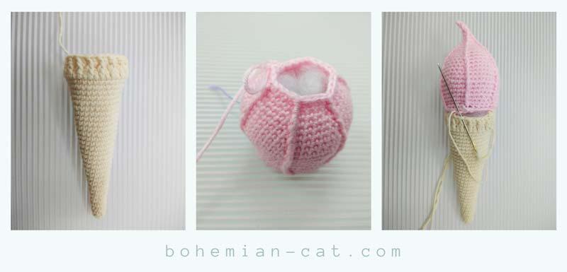 Honeycomb Ice Cream Cone – Crochet Pattern – My Creative Blog | 385x800
