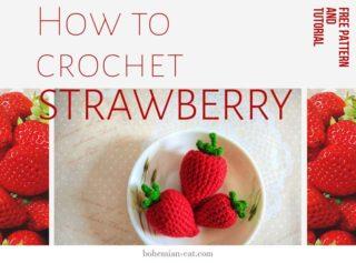 Crochet amigurumi strawberry
