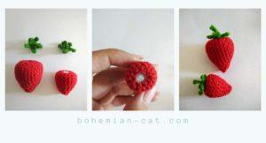 Crochet amigurumi strawberry step by step tutorial