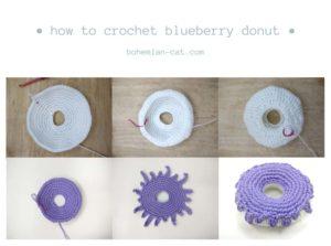 Crochet Blueberry Donut