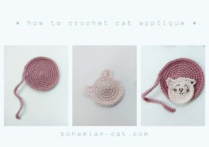 Crochet Cat Applique Step by Step