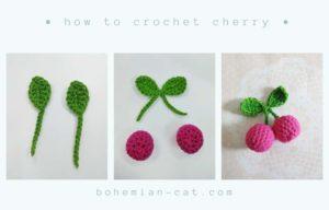 Crochet cherry step by step