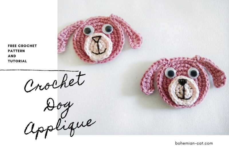 Crochet Dog Applique