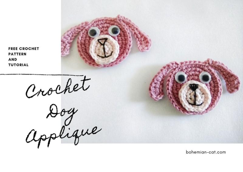 Crochet Dog Applique