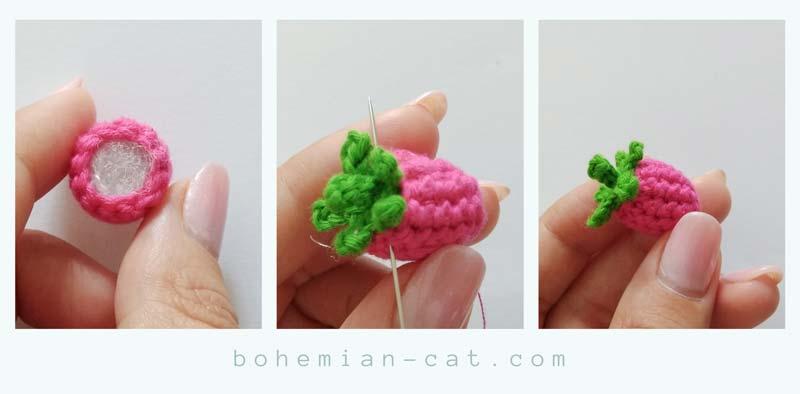 Crochet Raspberry Step by Step Tutorial 2