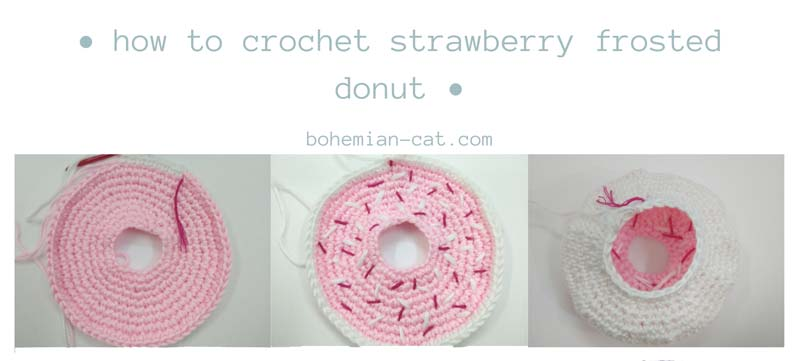 Crochet Strawberry Donut