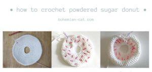 Crochet Powdered Sugar Donut