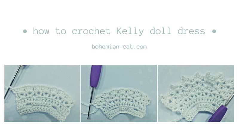 Crochet Kelly Doll Dress Step by Step 2