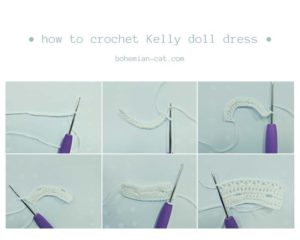 Crochet Kelly Doll Dress Step by Step