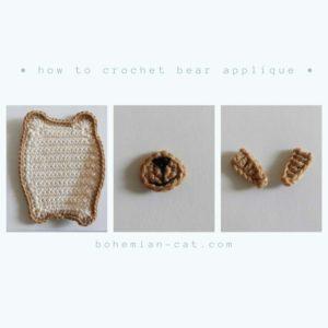 Crochet Bear Applique Step by Step