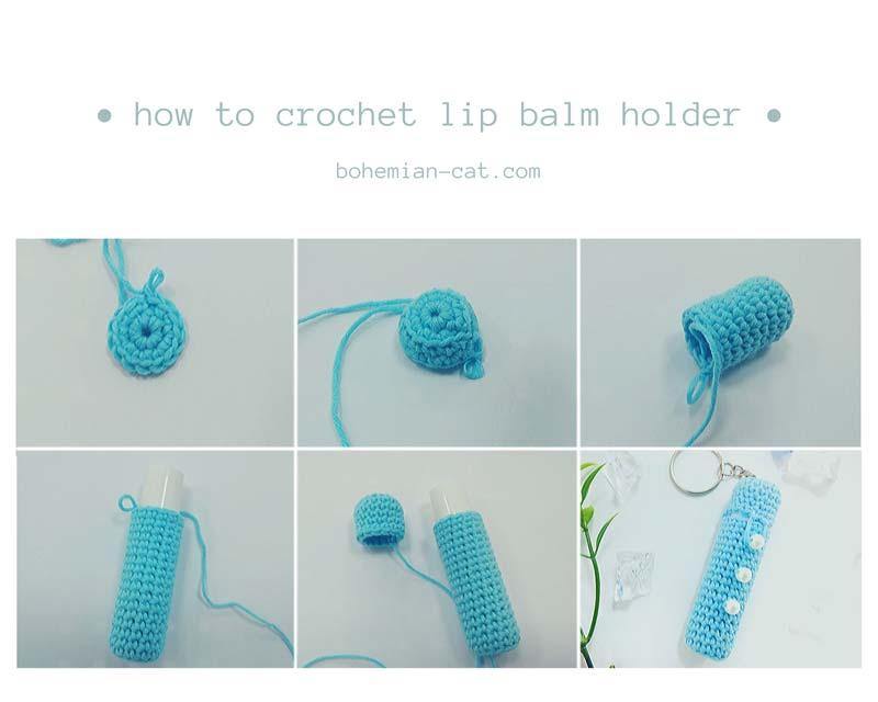 Crochet lip balm holder step by step