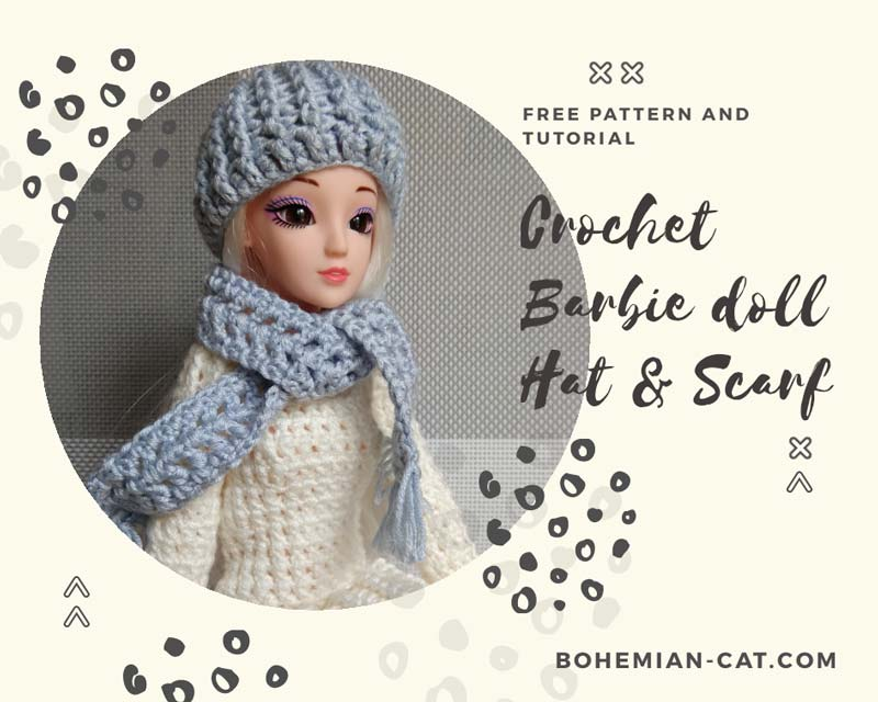 Crochet Barbie Hat and Scarf