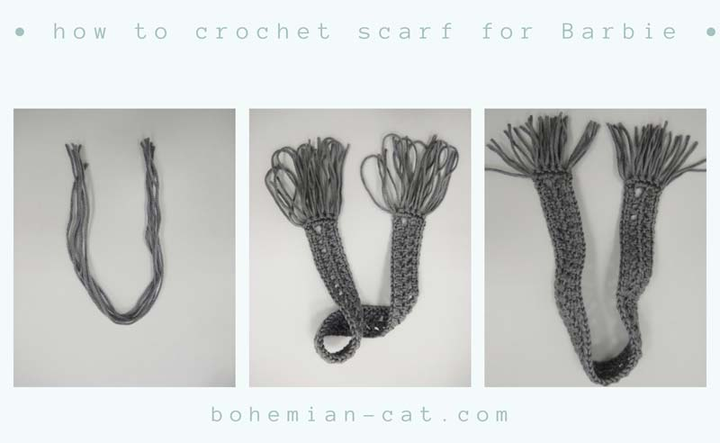 Crochet Barbie Scarf 2