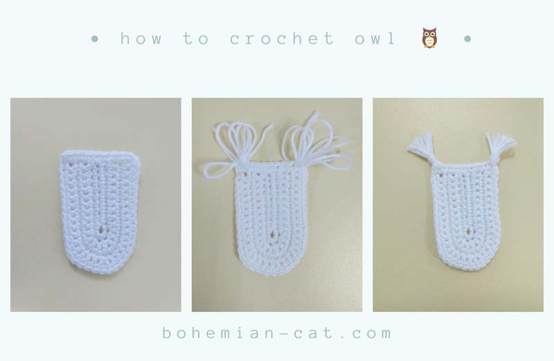 Crochet Owl Applique Step by Step