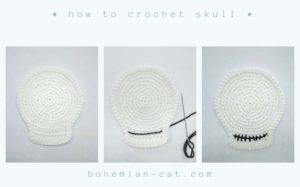 Crochet Skull Pattern step by step