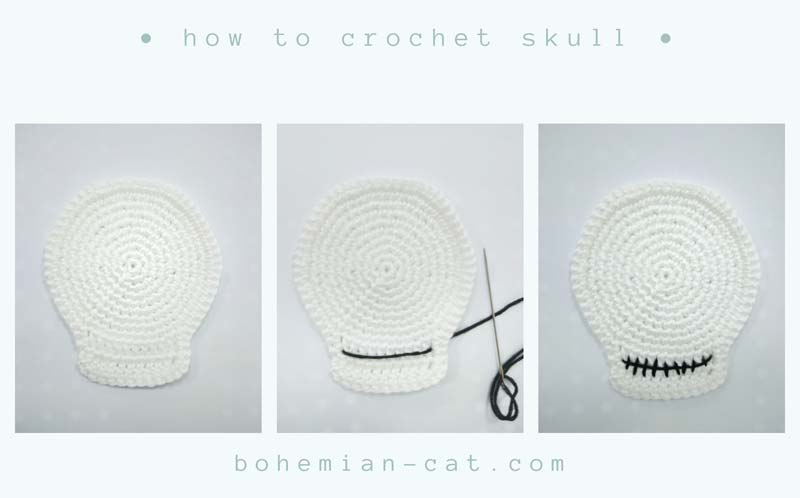 Crochet Skull Pattern step by step
