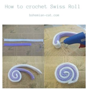 Crochet swiss roll step by step