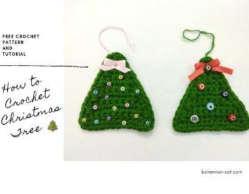 Easy Crochet Christmas Tree Applique
