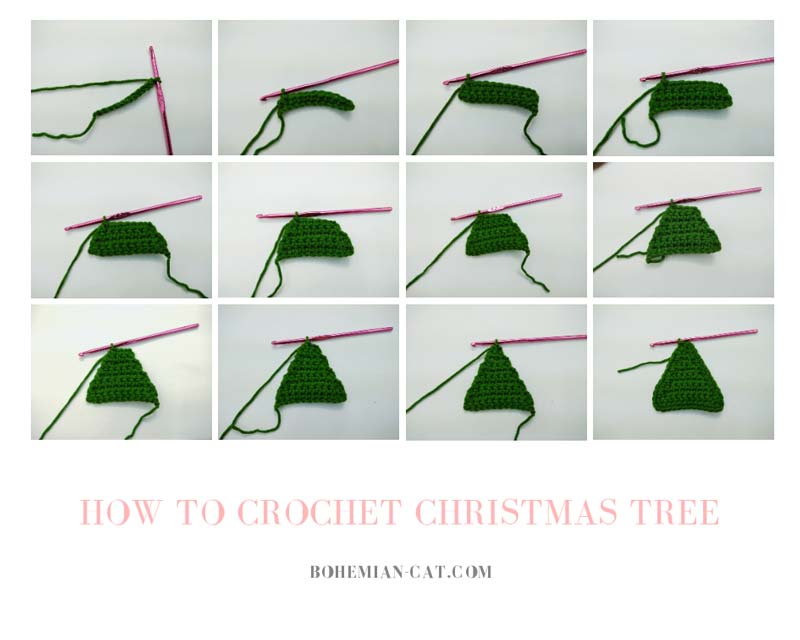 How to crochet christmas tree