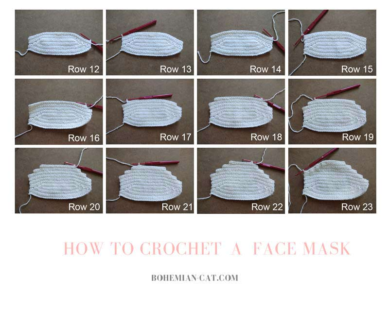 How to Crochet a face mask 2