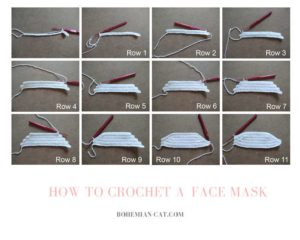 How to crochet face mask 1