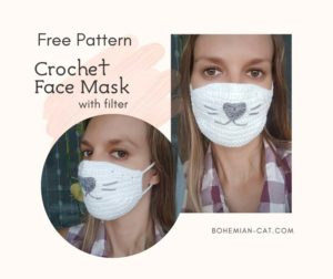 Crochet face mask