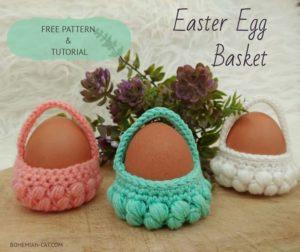 Mini Crochet Easter Egg Basket
