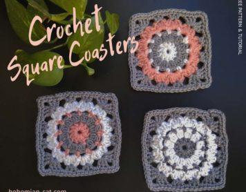 Crochet squere coasters
