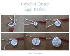 How to Crochet Easter Egg Basket 1