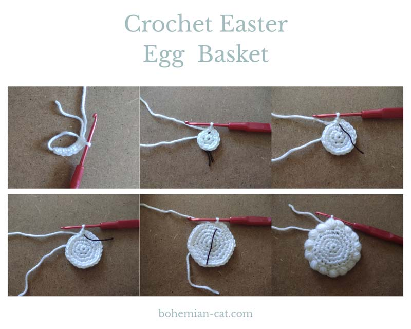 How to Crochet Easter Egg Basket 1