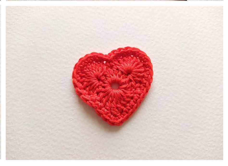 How to crochet heart - step 4